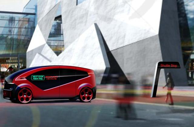 Fisker unveils self-driving shuttle built for smart cities