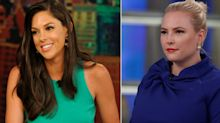 A CNN report said Abby Huntsman was leaving 'The View' over Meghan McCain's baby envy. McCain says that's sexist.