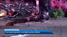 Crash in Toronto sends 4 minors to hospital, including a 13-year-old driver
