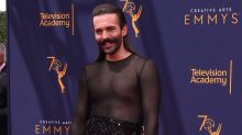 'Queer Eye' star Jonathan Van Ness slams 'transphobic' comments after wearing a sheer dress on the red carpet