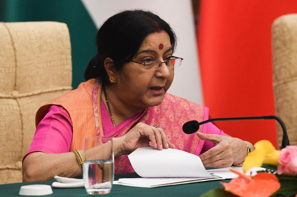 Foreign Minister Sushma Swaraj says India won't be dictated to
