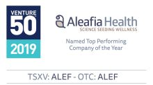 VIDEO: Aleafia Health Named Top Performing Company of the Year for TSX Venture 50