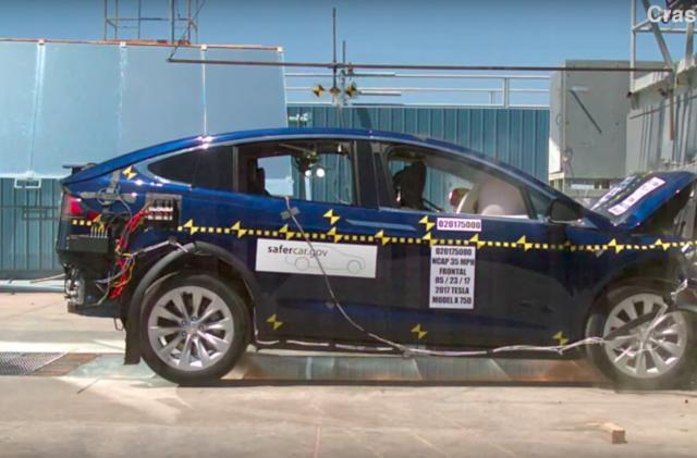 Tesla Model X earns a perfect NHTSA safety rating