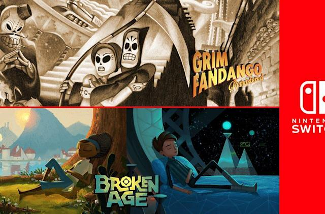 'Grim Fandango Remastered' and 'Broken Age' are headed to Switch