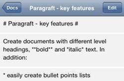 Paragraft gets iOS Markdown editing right