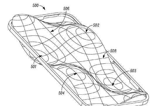 'Free form' lens over mobile display could improve audio and haptics, says Motorola patent filing