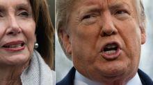 """Voyages officiels chamboulés: Trump et Pelosi à couteaux tirés autour du """"shutdown"""""""