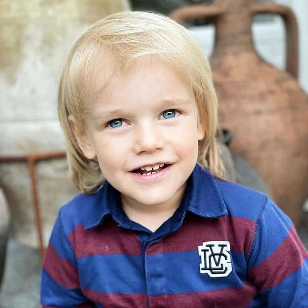 Prince Gabriel of Sweden's Blue Eyes Shine in New 4th Birthday Portrait