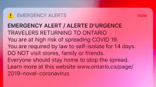 COVID-19 Emergency Alert: Ontario residents react with confusion, appreciation