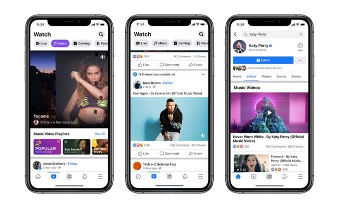 Facebook Watch music videos
