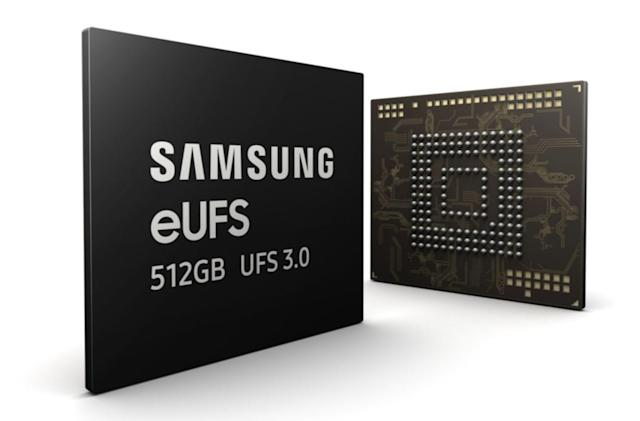 Samsung's new 512GB flash chip is twice as fast as its predecessor