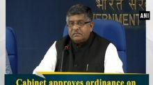 Cabinet approves ordinance on Triple Talaq: Ravi Shankar Prasad