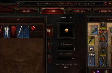 Diablo 3 auction house now has gems and other commodities for real money