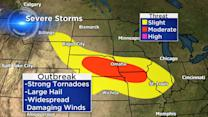 Plains, Midwest face heavy rain and possible tornadoes