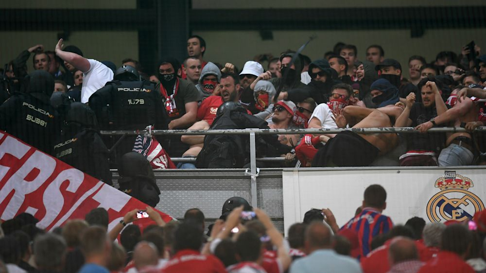 Bayern fans in ugly clashes with Bernabeu police