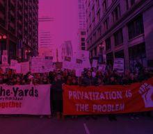As teachers strike, Chicago mayor touts $838M deficit fix