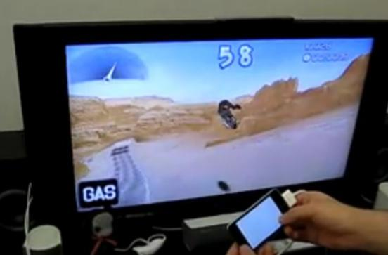 Secret iPhone video-out features hacked, used for video games