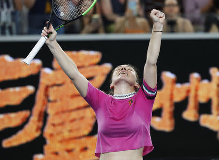 Tennis Determined Halep Survives Kanepi Onslaught To Reach Second Round