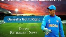 Dhoni Announces Retirement – Once Again Ganesha Got It Right