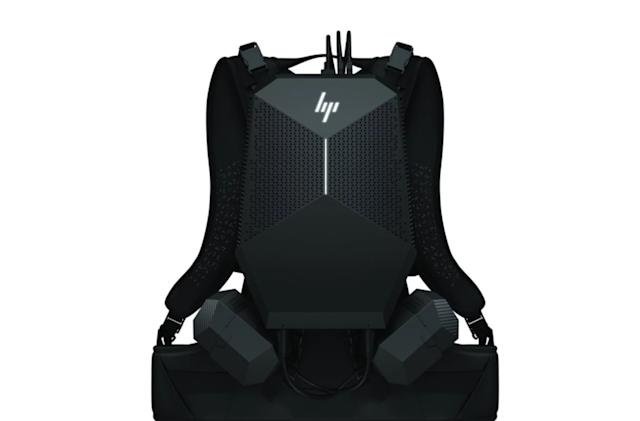 HP's latest VR Backpack swaps gaming for the workplace