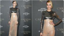 Cara Delevingne y otras famosas que se atreven con el 'naked dress'