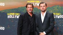 Brad Pitt calls himself 'trash mag fodder' while talking paparazzi with Leonardo DiCaprio