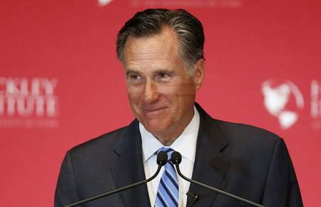 FILE PHOTO: Former Republican U.S. presidential nominee Mitt Romney delivers a speech criticizing current Republican presidential candidate Donald Trump in Salt Lake City, Utah, U.S., March 3, 2016. REUTERS/Jim Urquhart/File Photo