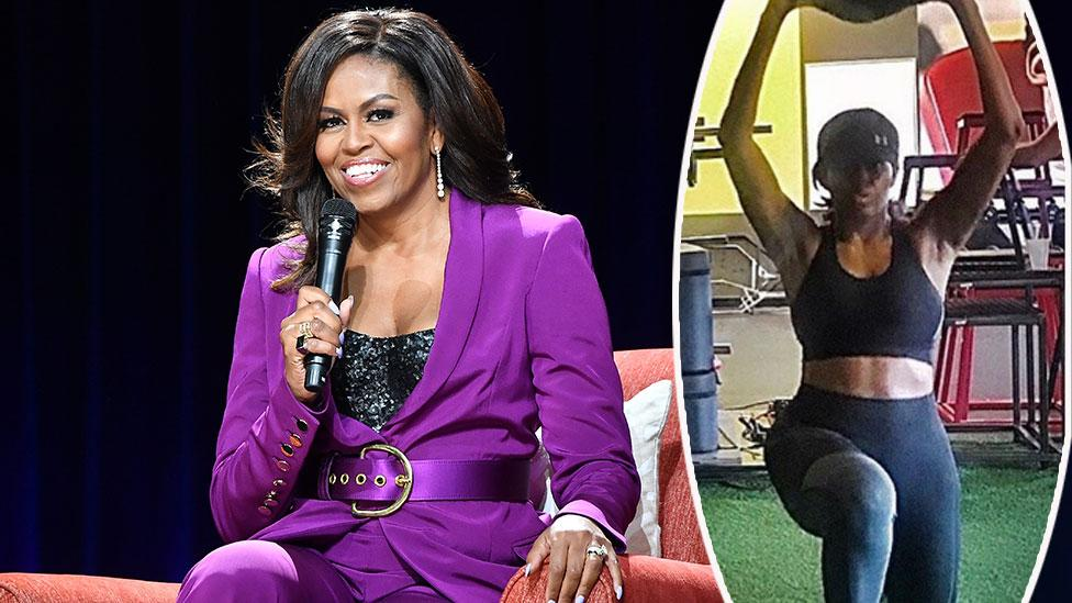 Michelle Obama, 55, shows off insane six-pack