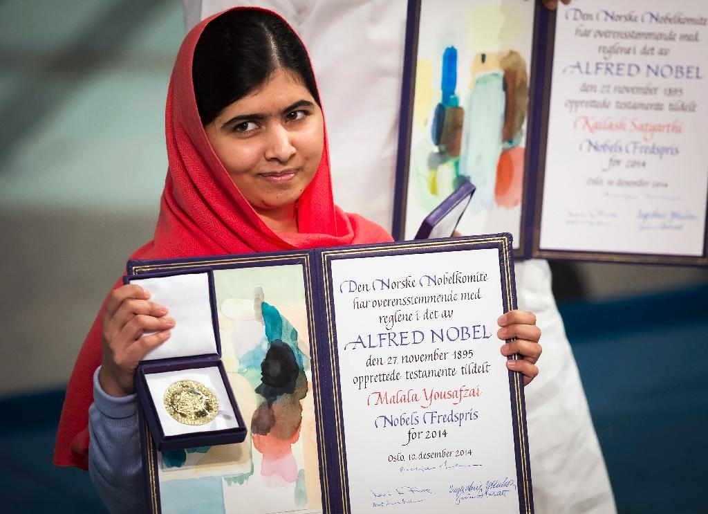 In 2014 Malala Yousafzai became the youngest person ever to be awarded the Nobel Peace Prize when she was just 17 (AFP Photo/Odd ANDERSEN)