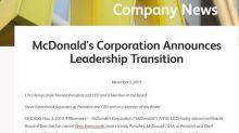 """McDonald's silura top manager: """"Relazione"""" con una dipendente"""