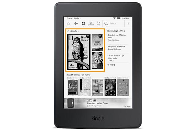 Kindle e-reader update gives quick access to your books