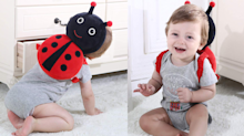 These clever, cushioned backpacks help protect your baby's head during a tumble