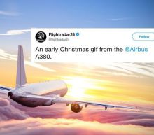 An airplane drew a Christmas tree on a flight tracker because why not