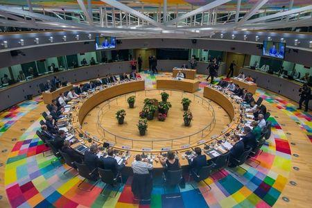 EU leaders take part in a European Union summit in Brussels, Belgium June 28, 2018. Stephanie Lecocq/Pool via REUTERS