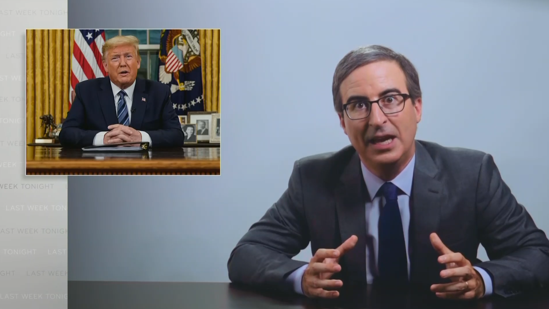 John Oliver slams Trump for pushing conspiracy theories about coronavirus [Video]
