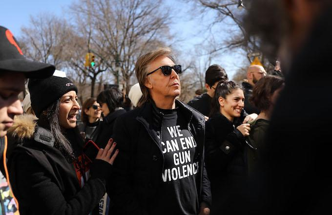 Paul McCartney Pays Tribute to John Lennon at NYC March for Our Lives Protest
