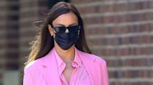 Irina Shayk Stepped Out in a Barbie Pink Suit in NYC