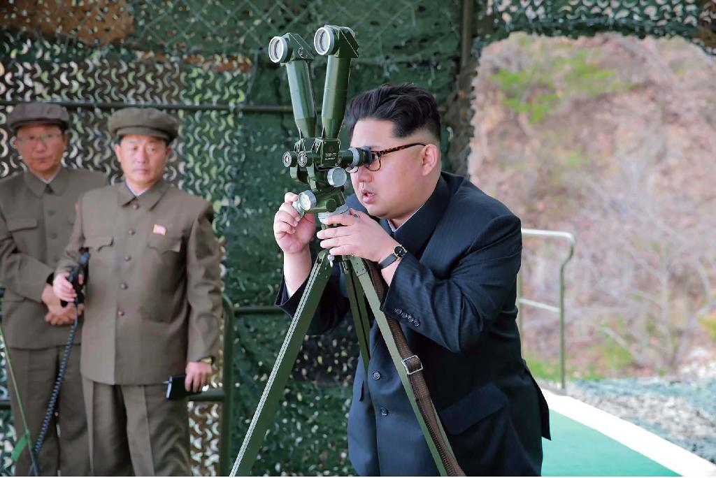 """North Korea said it would cut off diplomatic channels with the US and handle issues related with it under its """"wartime law"""" in protest at sanctions on leader Kim Jong-Un (AFP Photo/)"""