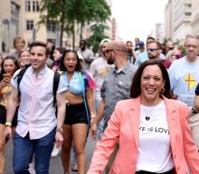 In photos: Harris shows up at Pride parade in downtown D.C.