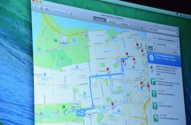 Apple Maps for OS X Mavericks lets you instantly send directions to your iPhone