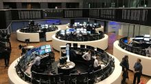Trade talk boosts European shares as results cause big swings