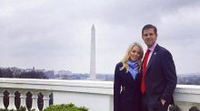 Tiffany Trump poses in stars and stripes flats at the White House