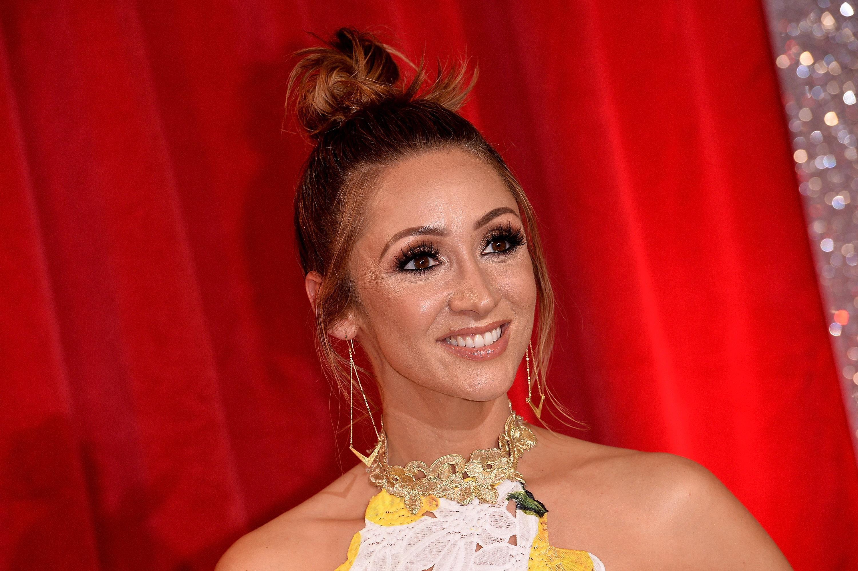 Lucy-Jo Hudson 'in love' after giving birth to baby boy