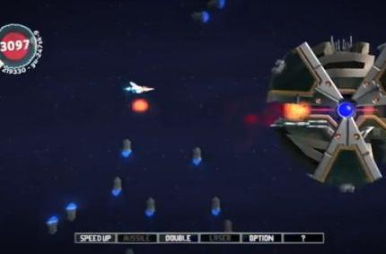 Gradius remade in a LittleBigPlanet 2 level