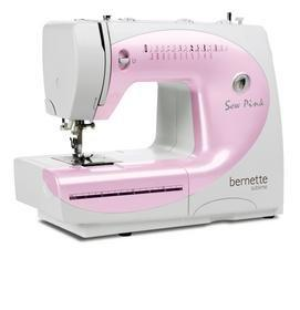 Pink sewing machine breast cancer awareness