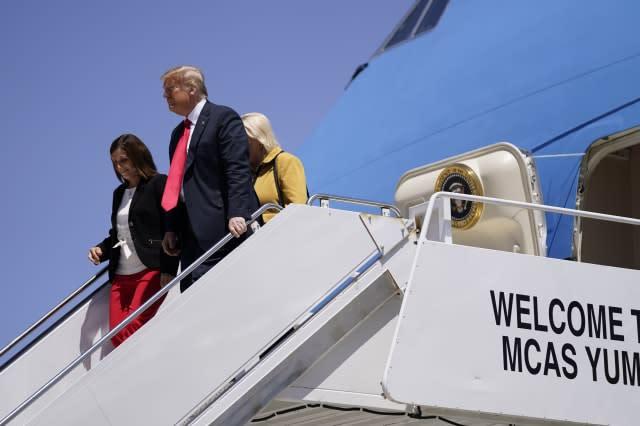 Trump credits new border wall with stopping migrants, and coronavirus
