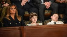 Boy named Trump who fell asleep during State of the Union hailed a hero
