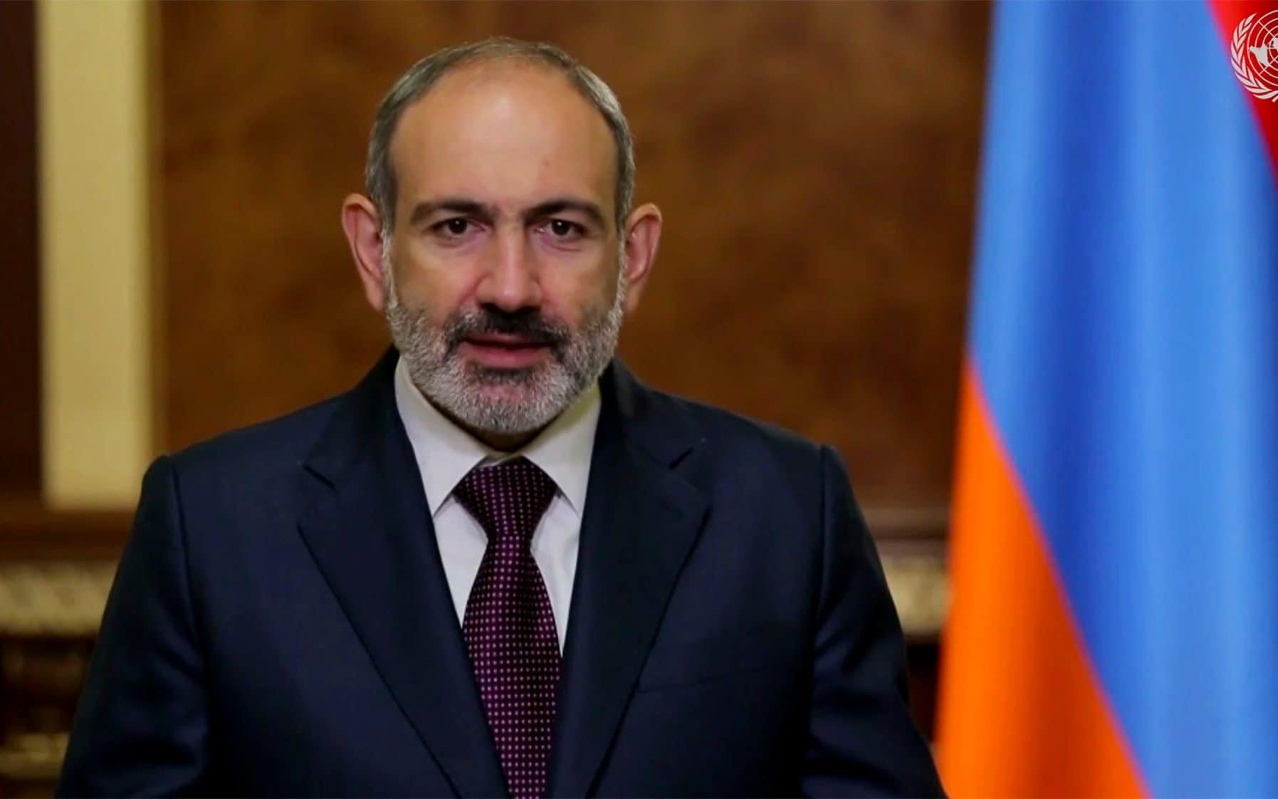 Armenia's prime minister calls for Russian peacekeepers to halt war in Nagorno Karabakh