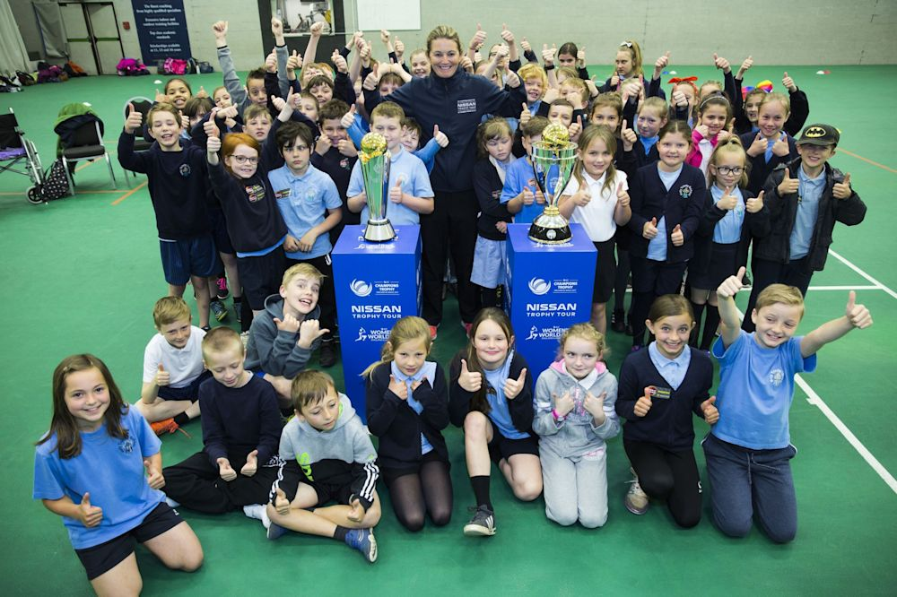 Pupils at Selworthy and Lyngford Park schools benefited from Charlotte Edwards' coaching