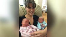 Police kick in door to help mom resuscitate newborn baby, deliver her twin
